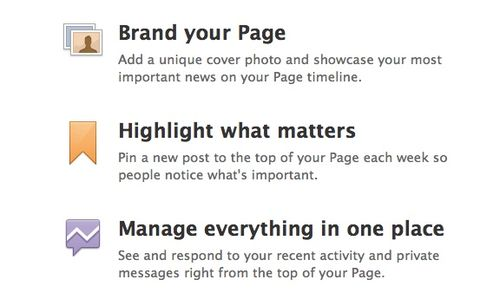 facebook pages - new design